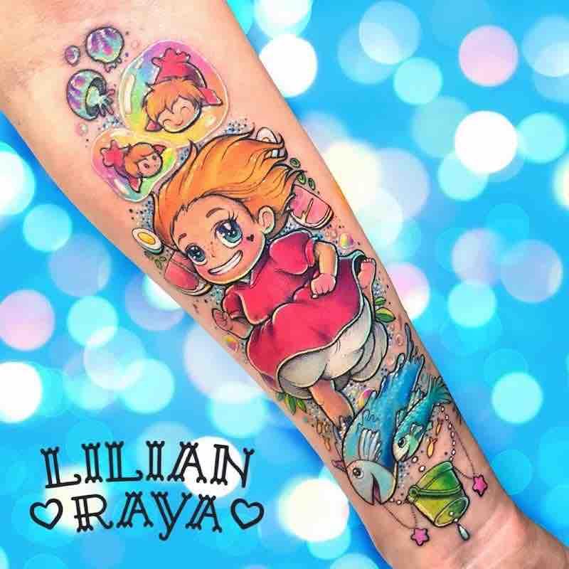 Ponyo Tattoo by Lilian Raya