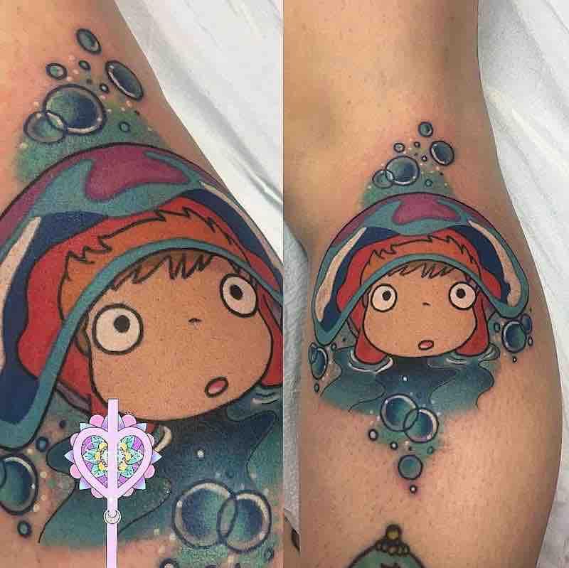 Ponyo Tattoo by Sarai