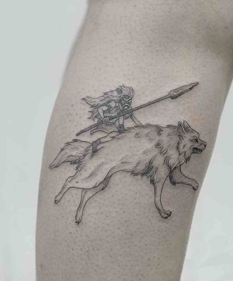 Princess Mononoke Tattoo 4 by Phoebe Hunter