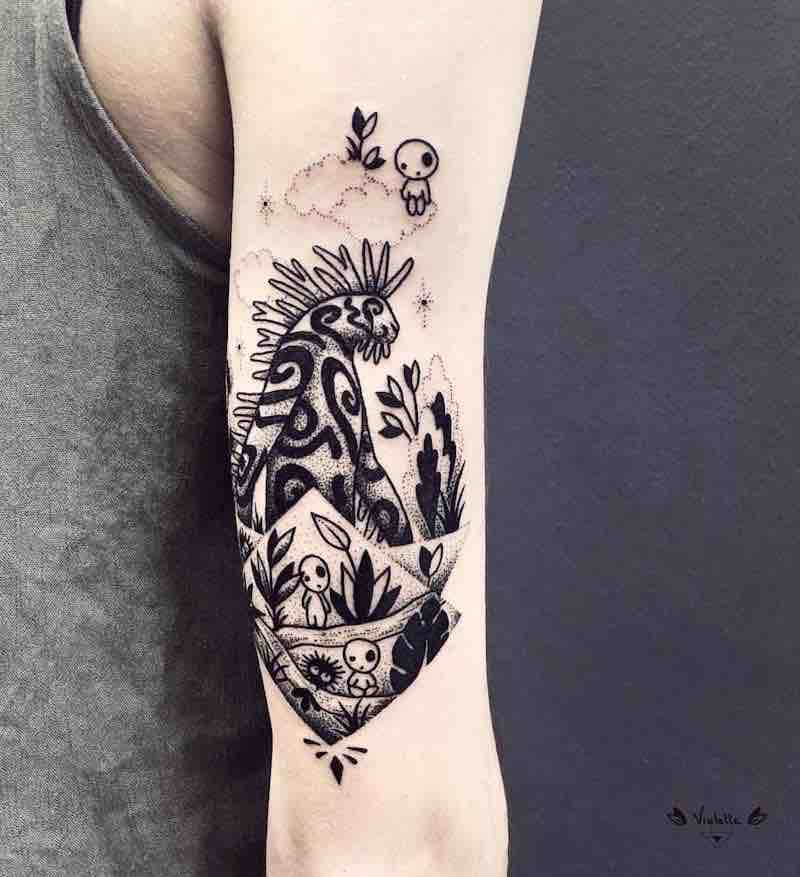 Princess Mononoke Tattoo by Violette Chabanon