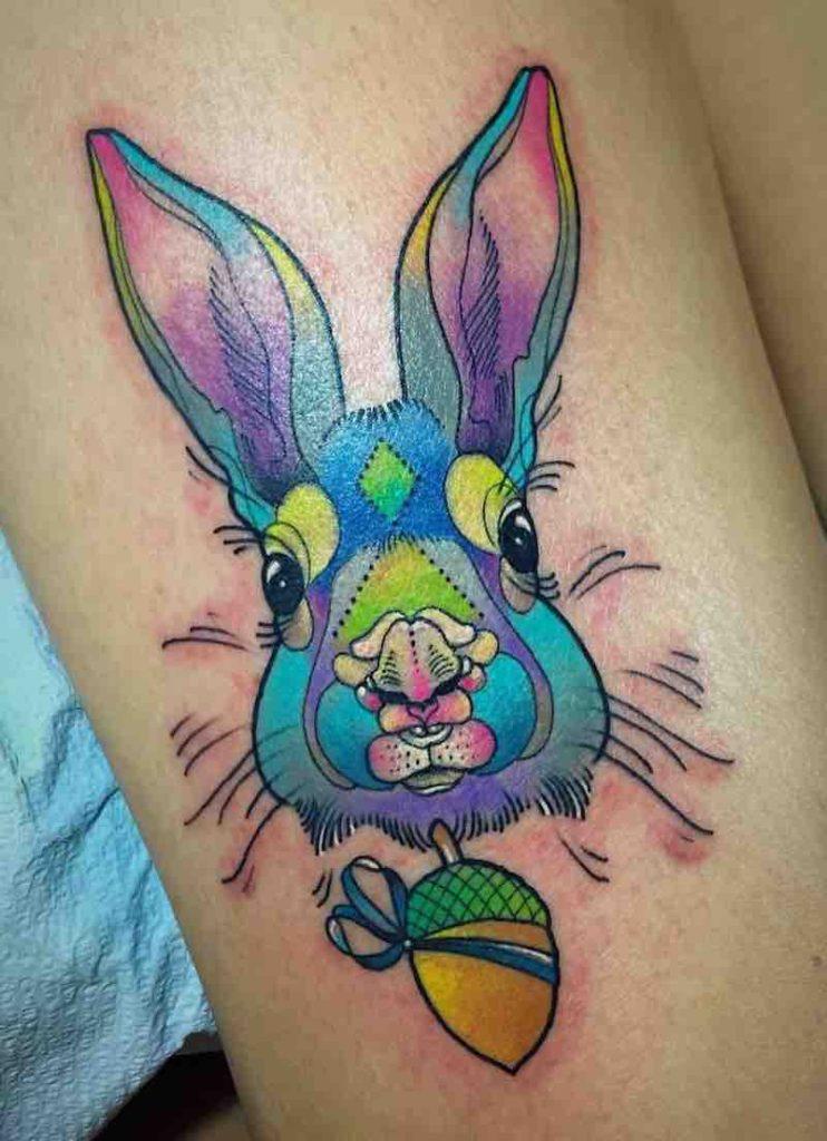 Rabbit Tattoo 2 by Katie Shocrylas