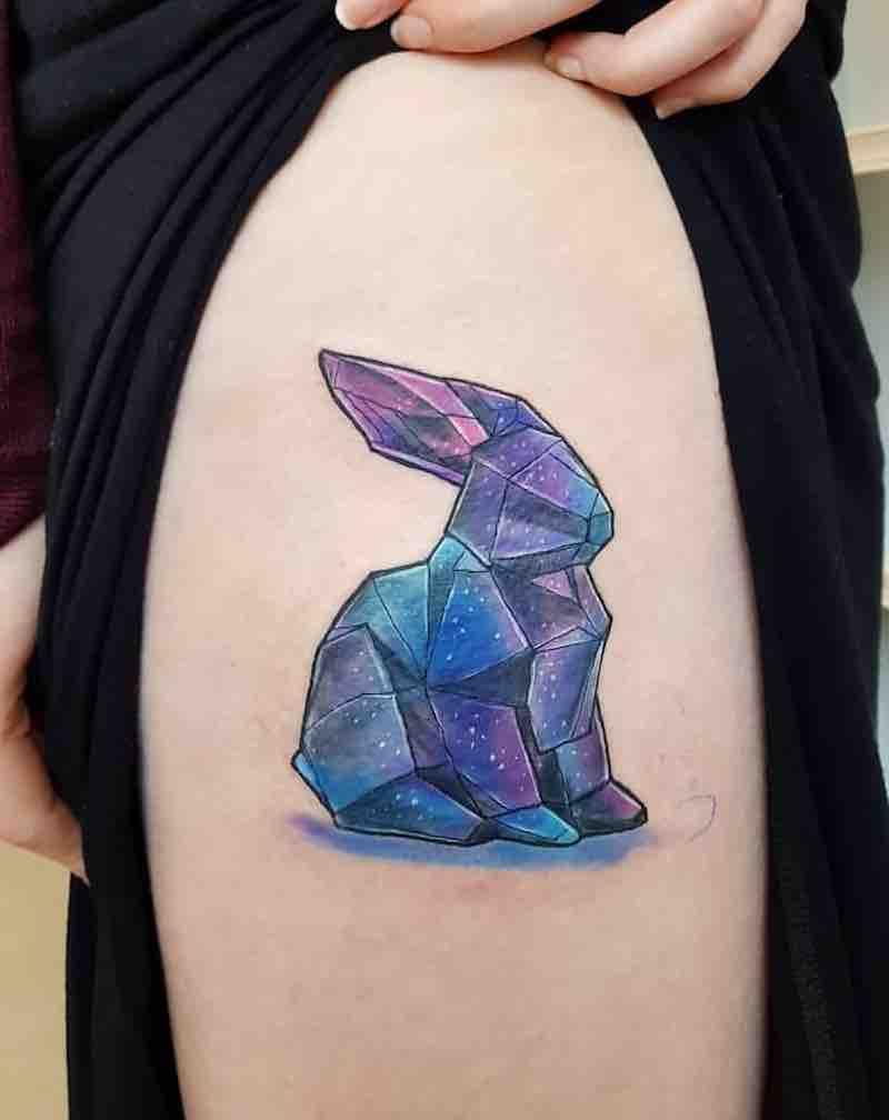 Rabbit Tattoo by Joanne Baker