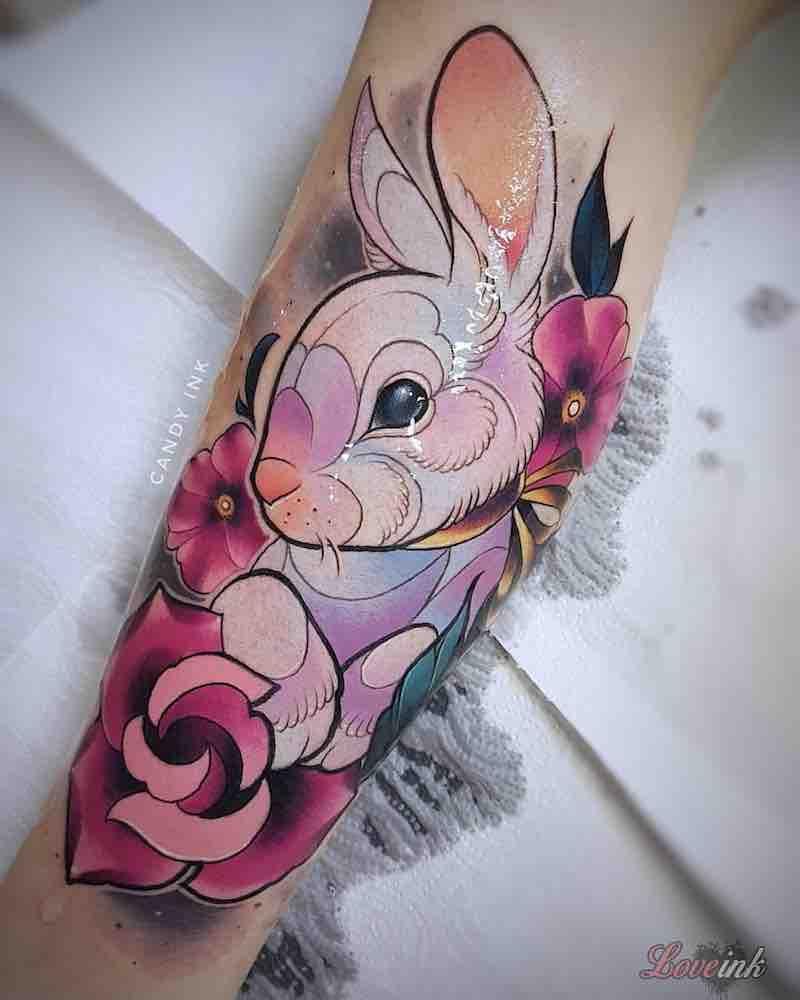 Rabbit Tattoo by Laura Konieczna