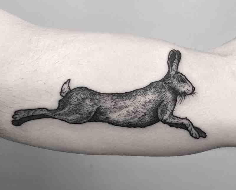 Rabbit Tattoo by Merry Morgan