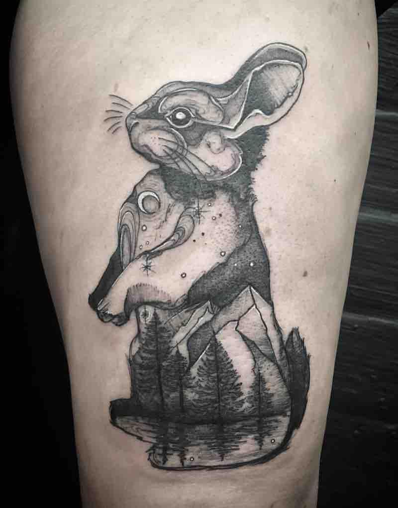 Rabbit Tattoo by Miz Tea
