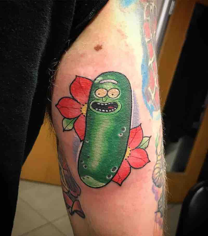 Rick and Morty Pickle Rick Tattoo 2 by Chris Hill