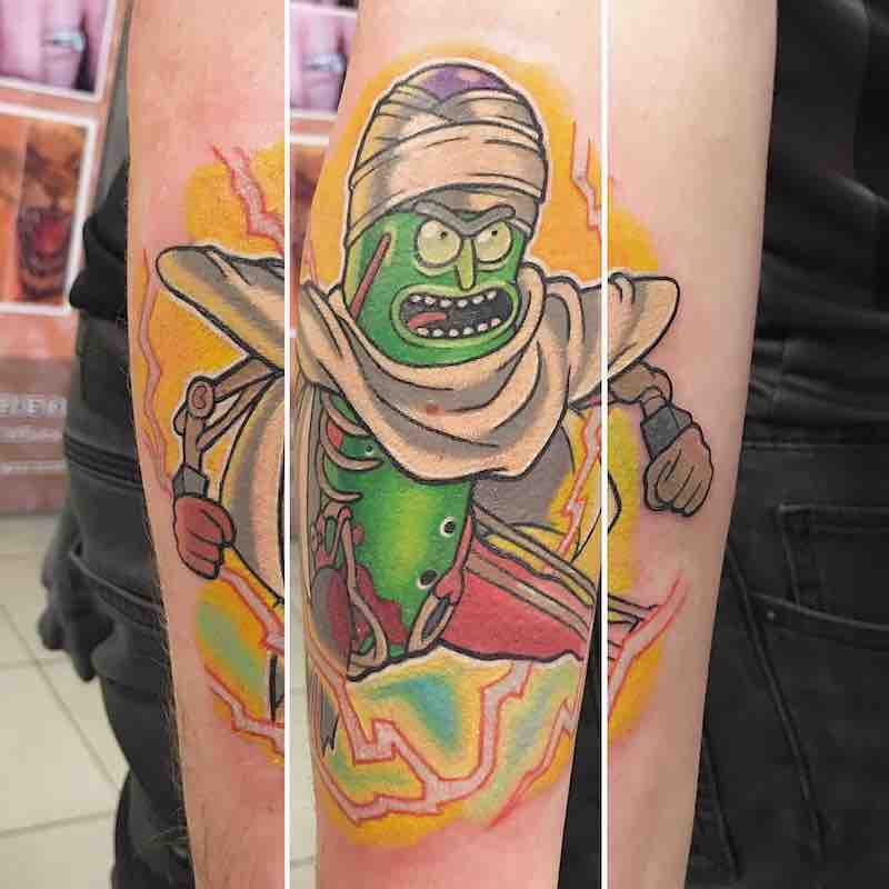 Rick and Morty Pickle Rick Tattoo by Chris Hill
