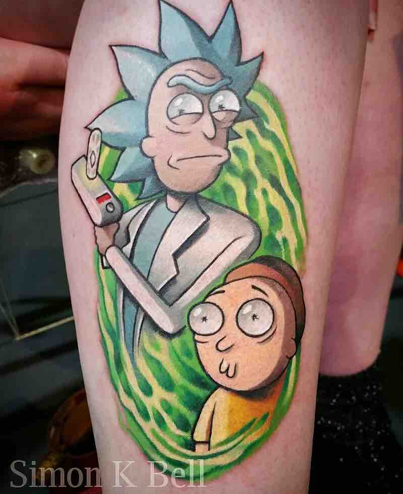 Rick and Morty Tattoo 2 by Simon K Bell