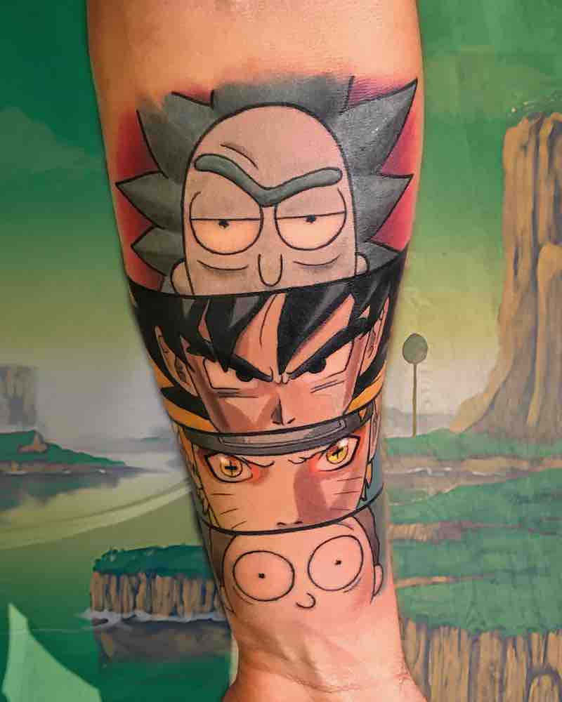 Rick and Morty Tattoo by Matthew Larkin