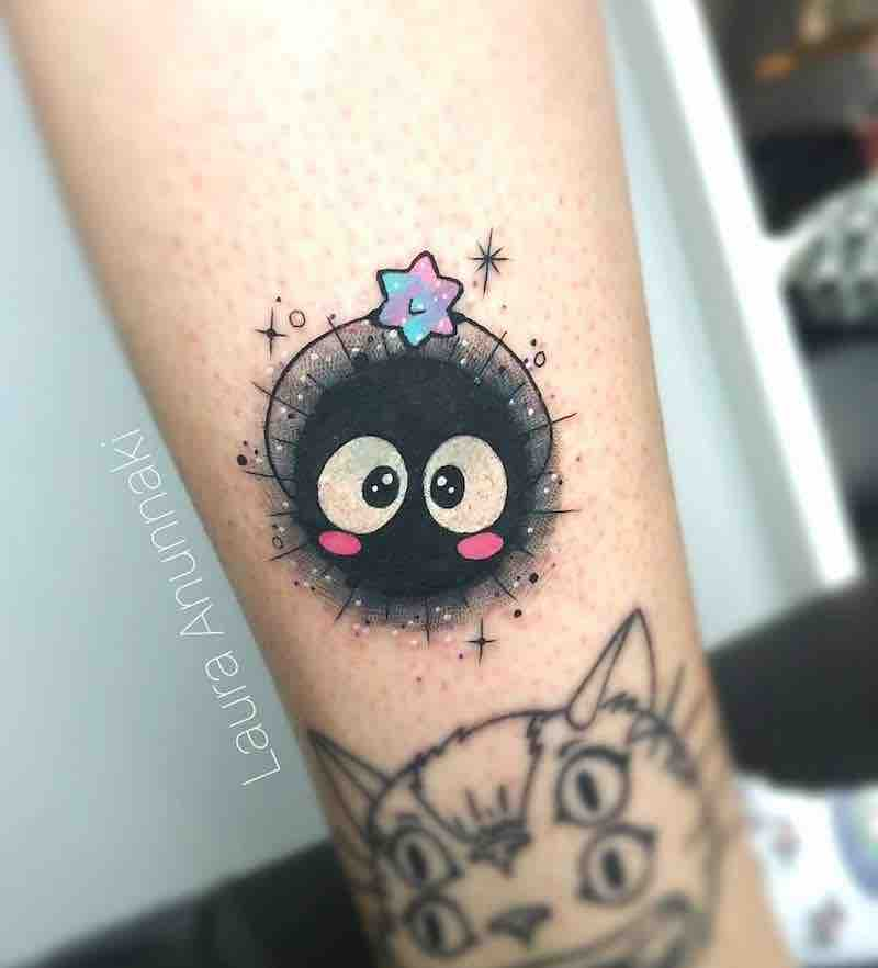 Sootball Spirited Away Tattoo by Laura Anunnaki