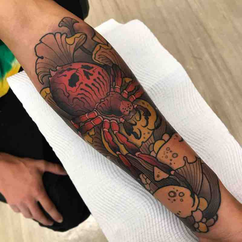 Spider Tattoo by Heath Clifford