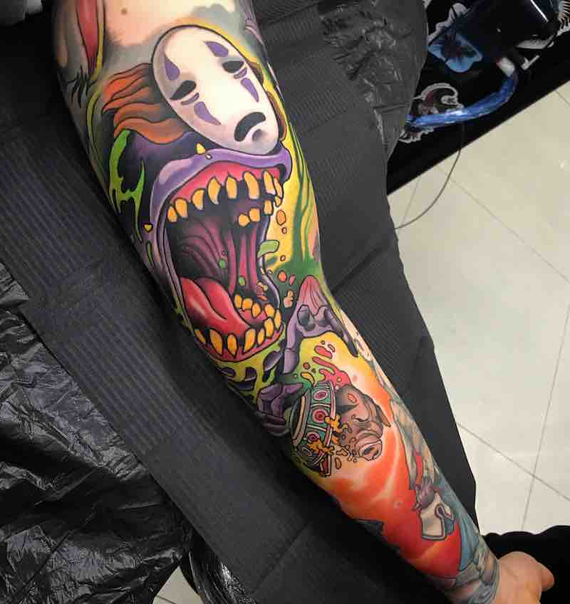 Spirited Away No Face Tattoo by Johnny Domus