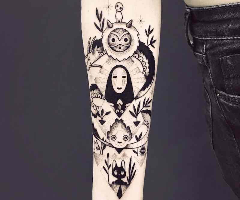 Studio Ghibli Mash-Up Tattoos