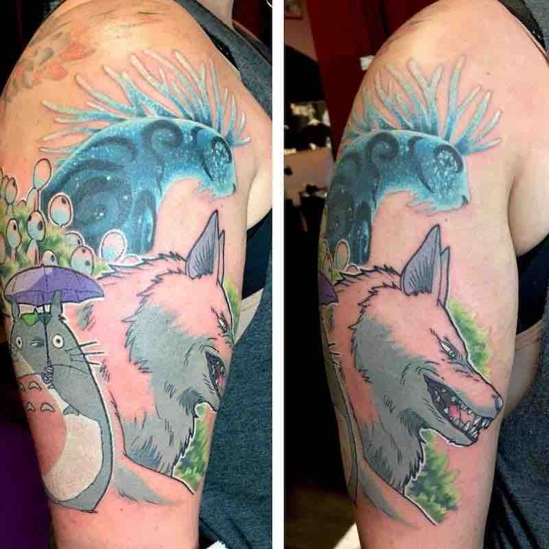 Studio Ghibli Tattoo by Kimberly Wall
