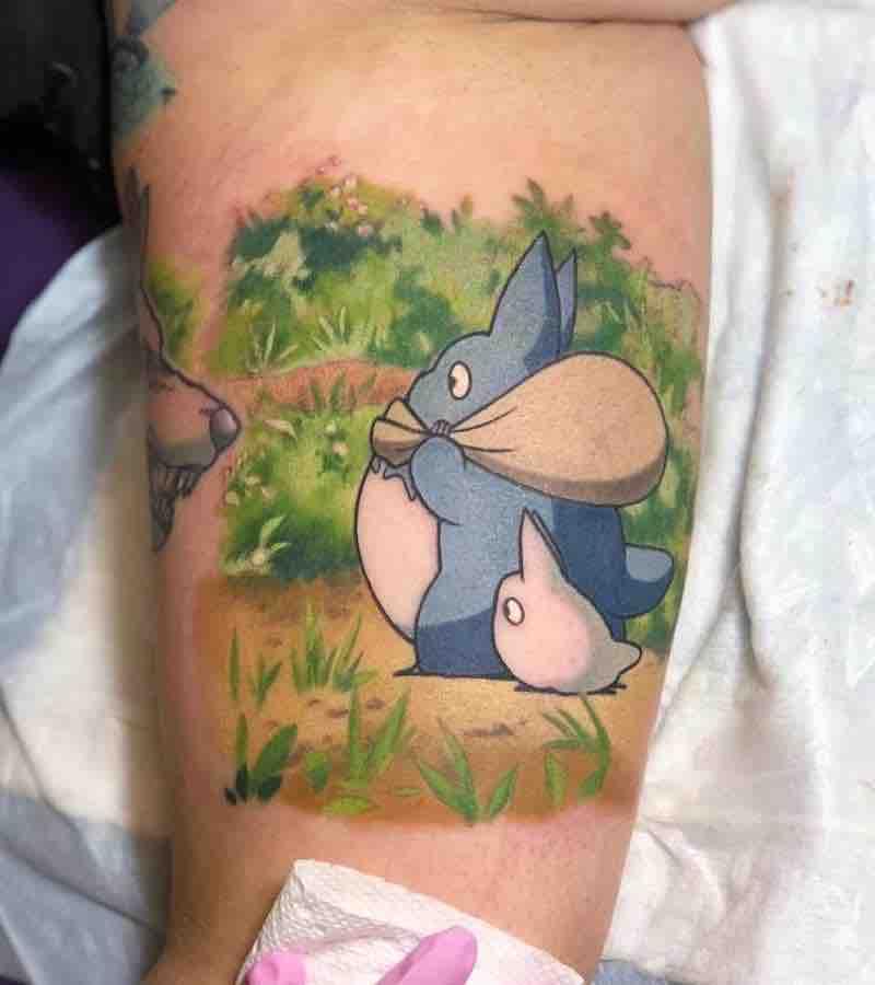 Totoro Tattoo 1 by Kimberly Wall