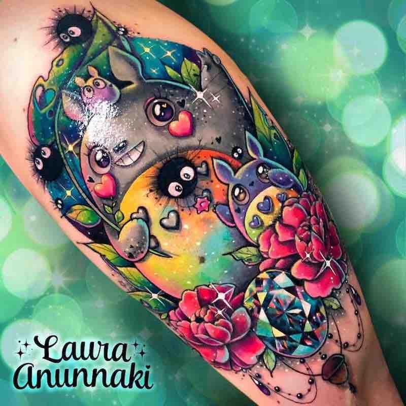 Totoro Tattoo by Laura Anunnaki
