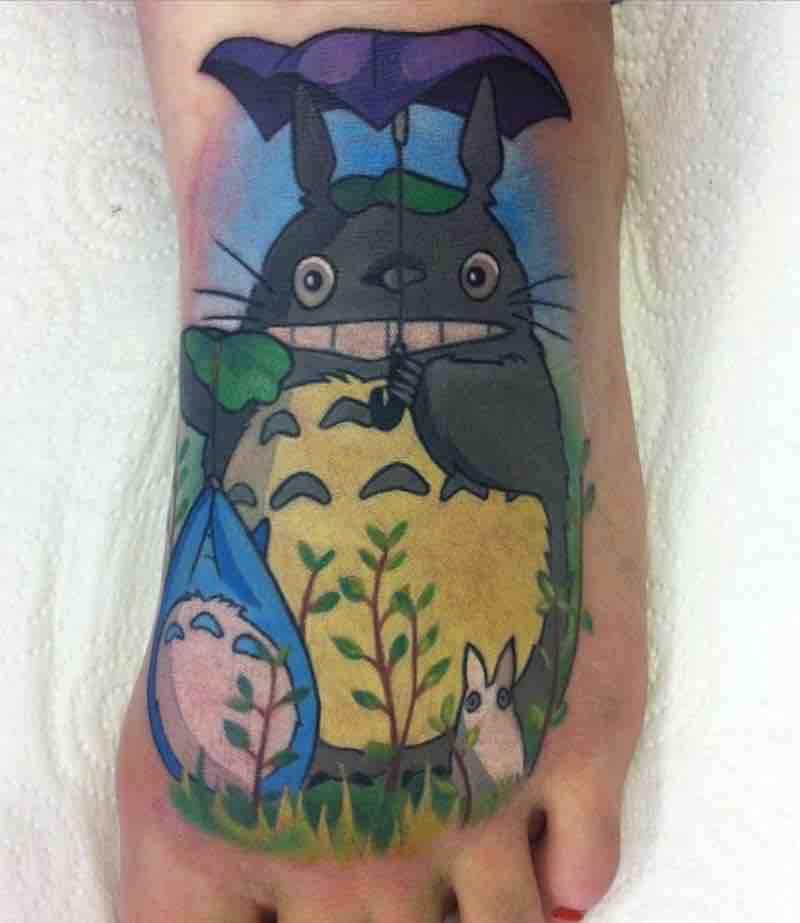 Totoro Tattoo by Michelle Maddison