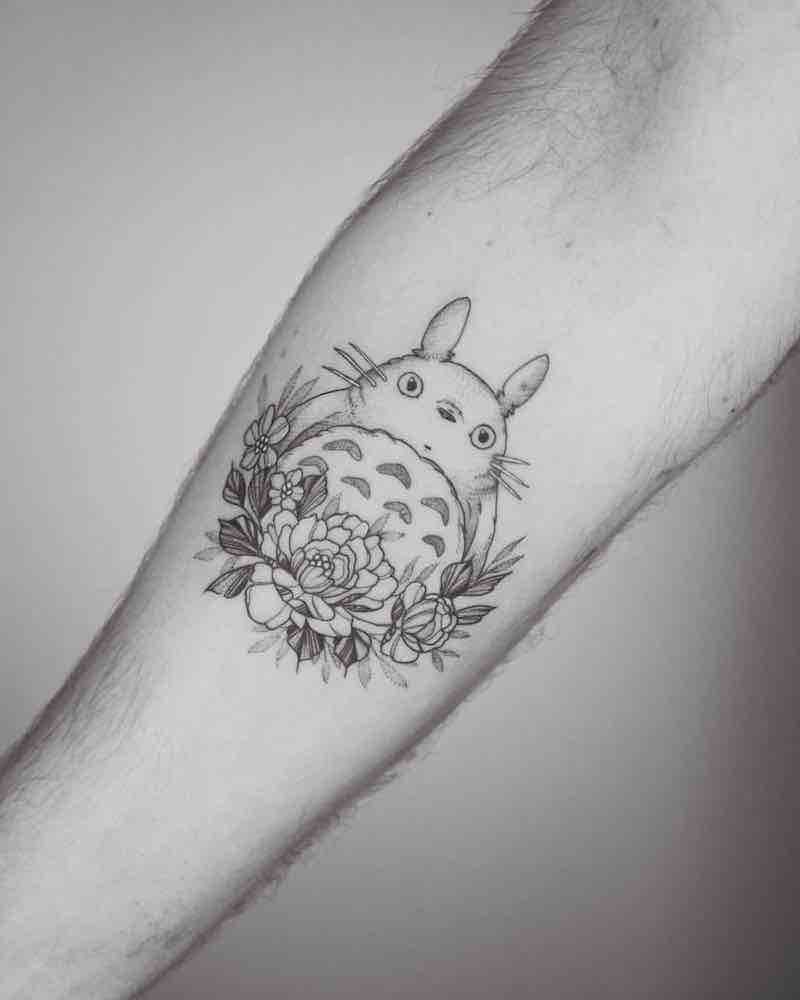 Totoro Tattoo by Phoebe Hunter