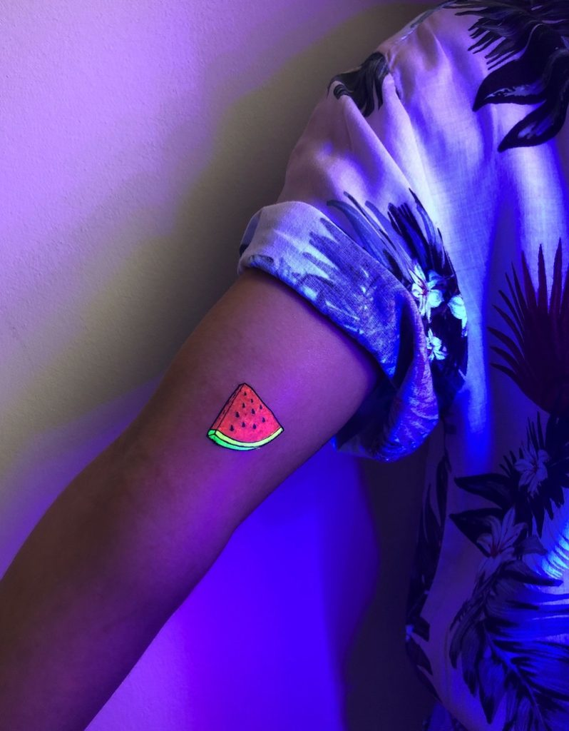 Watermelon UV Tattoo by Andrea
