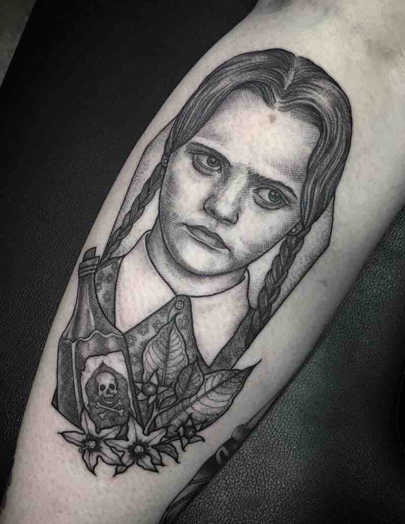 Wednesday Addams Tattoo 2 by Eddy Lou