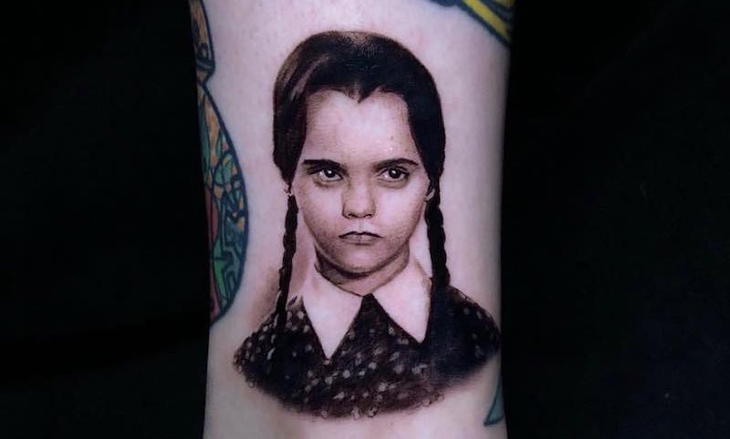 Wednesday Addams Tattoo Pony Lawson