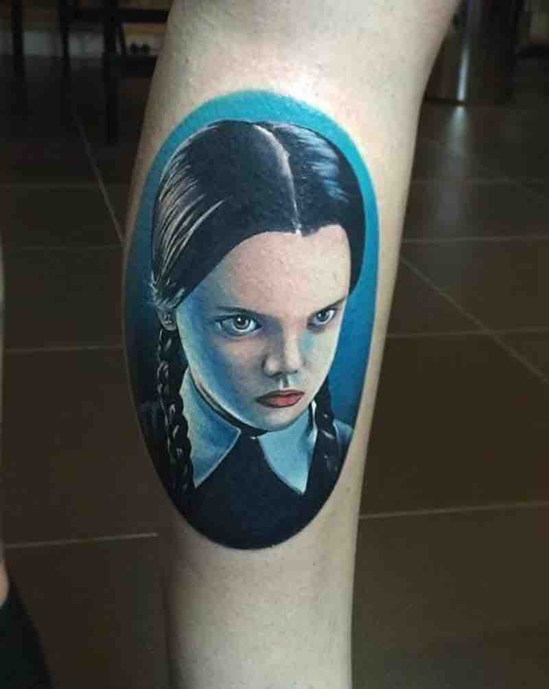 Wednesday Addams Tattoo by Aaron Lyons