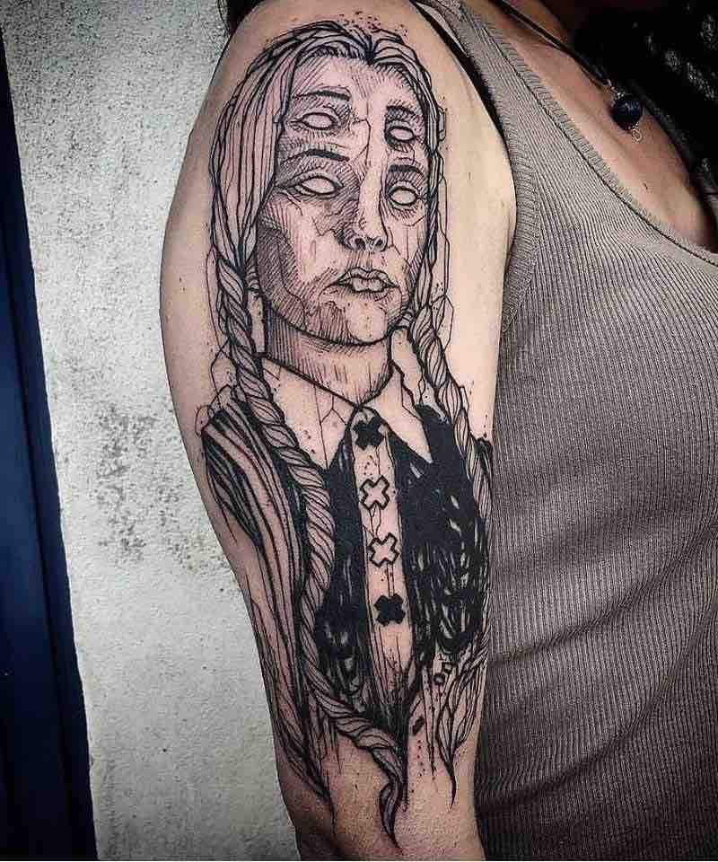 Wednesday Addams Tattoo by Ergo Nomik