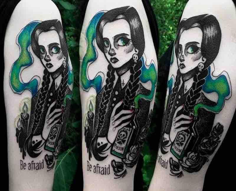 Wednesday Addams Tattoo by Fukari