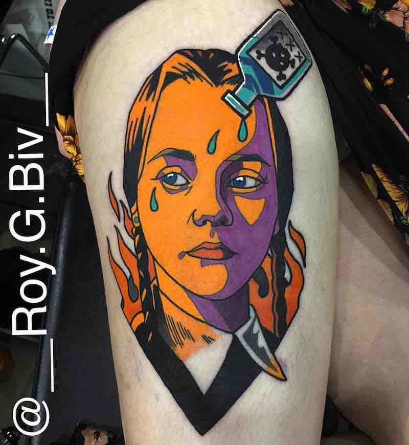Wednesday Addams Tattoo by Geary Morrill