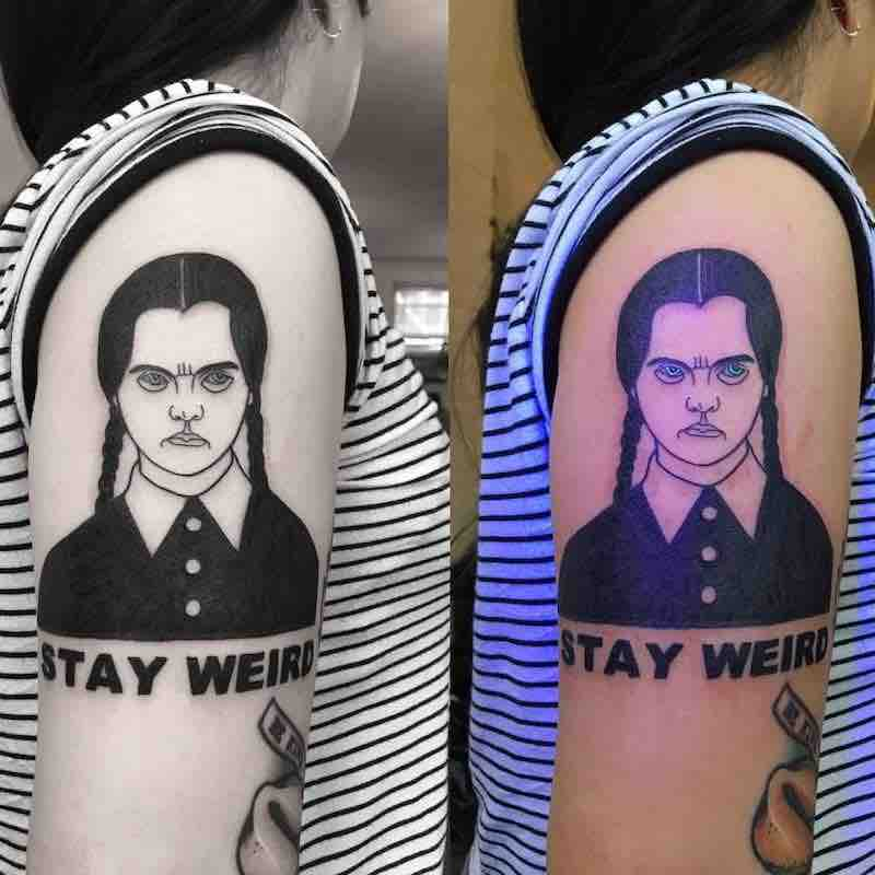 Wednesday Addams Tattoo by Noil Culture