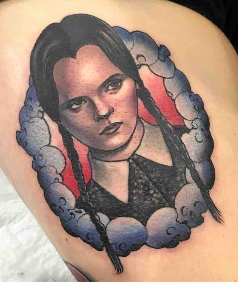 Wednesday Addams Tattoo by Sophie Lewis
