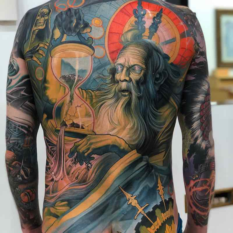 Mens Back Tattoo 3 by Steve Moore
