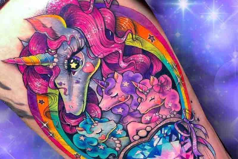 Unicorn Tattoo 2 by Laura Anunnaki FI