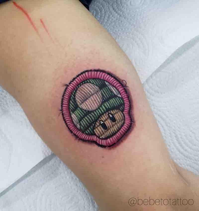 Mushroom Embroidery Tattoo by Edson De Sousa Xavier