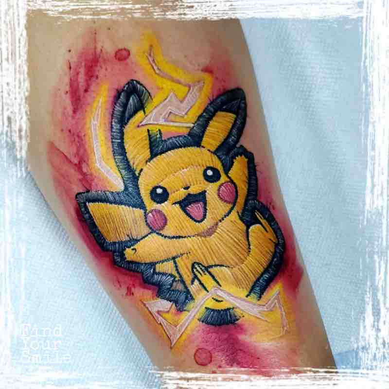 Pikachu Embroidery Tattoo by Russell Van Schaick