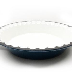 pie plate cast iron enamel