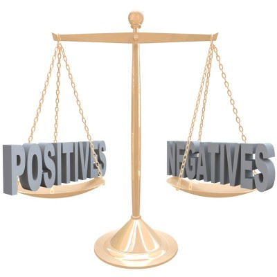 Weighing Positives and Negatives - Choices on Scale