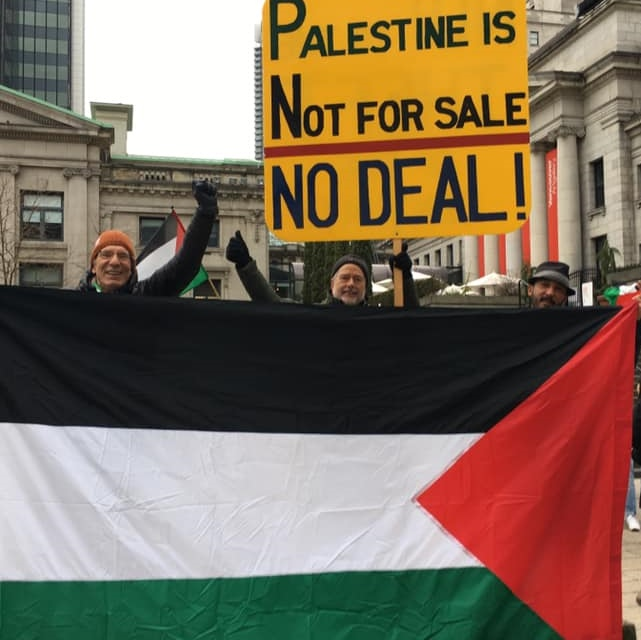 Rally to support Palestine and reject Trump's plan