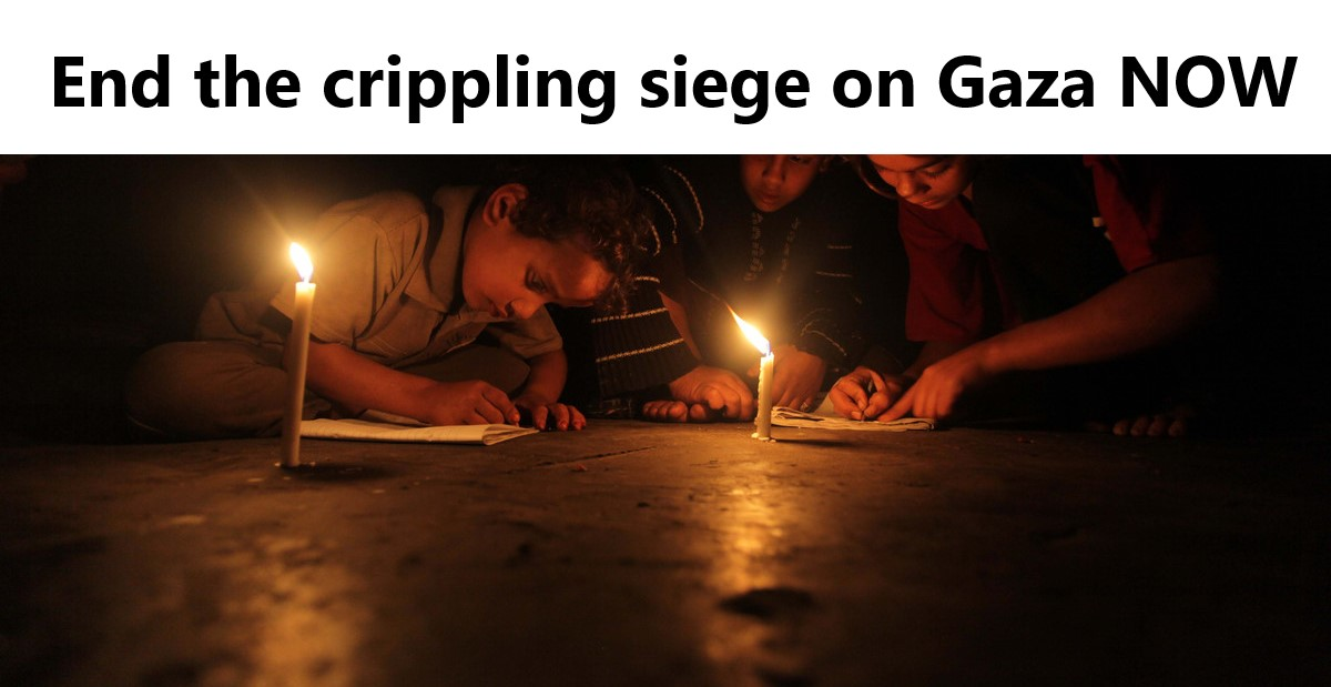 Action Alert: Demand that Canada pressure Israel to end the siege of Gaza!