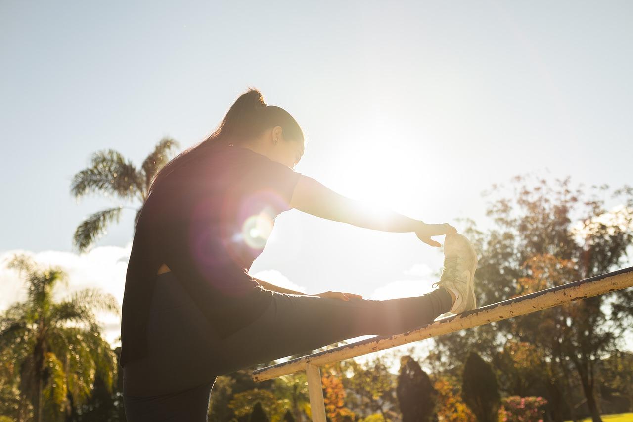 Woman Stretch Stretching Sport