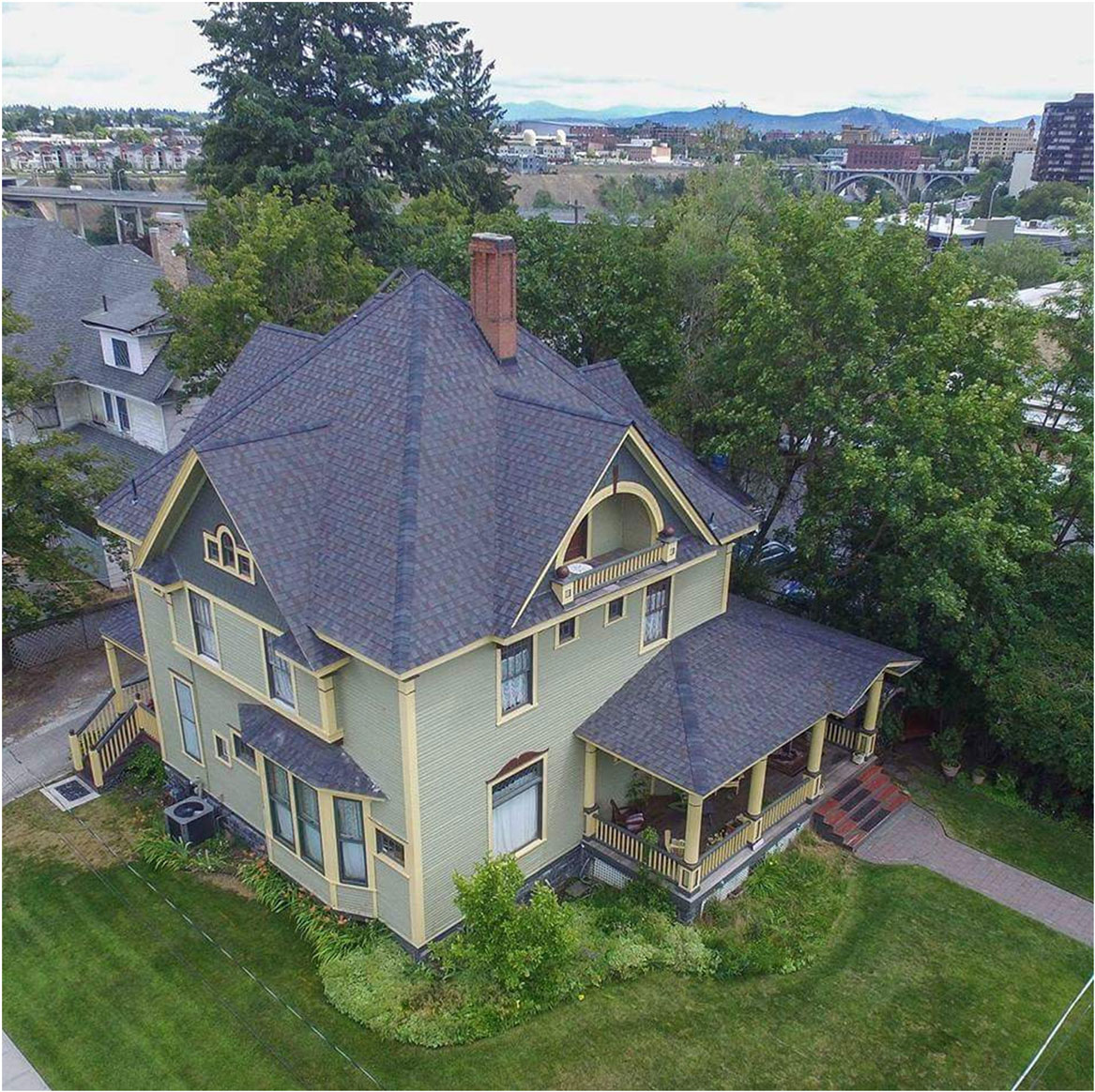 Drone Shot View The 1899 House B&B Policies
