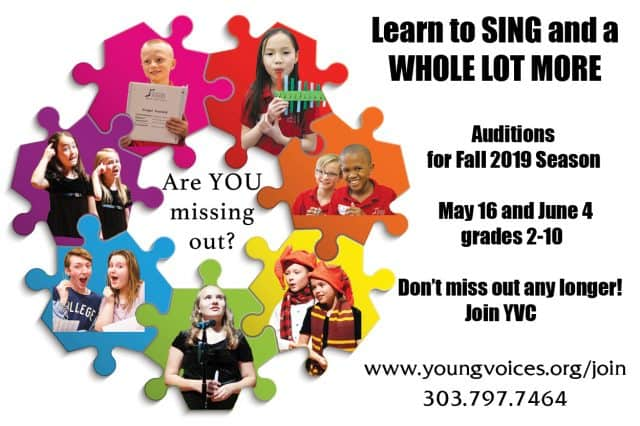 New Singer Auditions @ Young Voices of Colorado Studio | Englewood | Colorado | United States