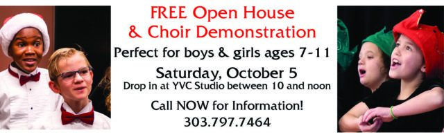 Free Open House and Choir Demonstration @ Young Voices Studio | Englewood | Colorado | United States