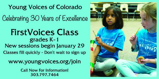 FirstVoices - New Sessions Begin January 29 @ Young Voices of Colorado | Englewood | Colorado | United States