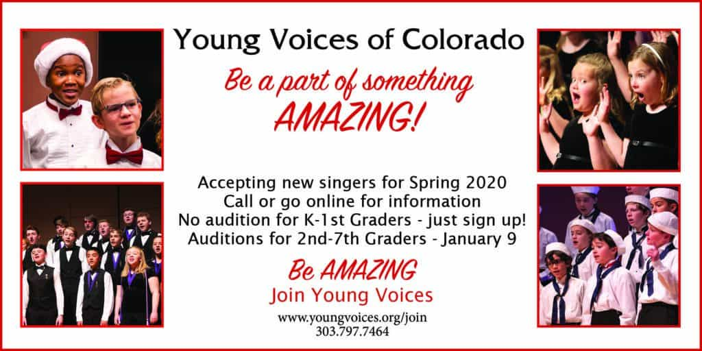 Training Choir Auditions @ Young Voices of Colorado Studios | Englewood | Colorado | United States