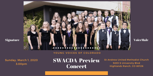 SWACDA Preview Concert @ St Andrew United Methodist Church