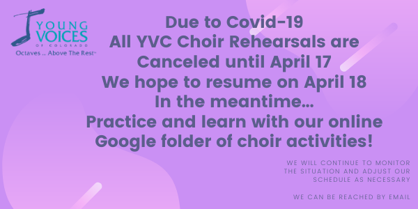 YVC Rehearsals - Canceled @ Young Voices Studios