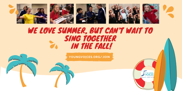 It's Summer, but we can't wait to SING TOGETHER this FALL