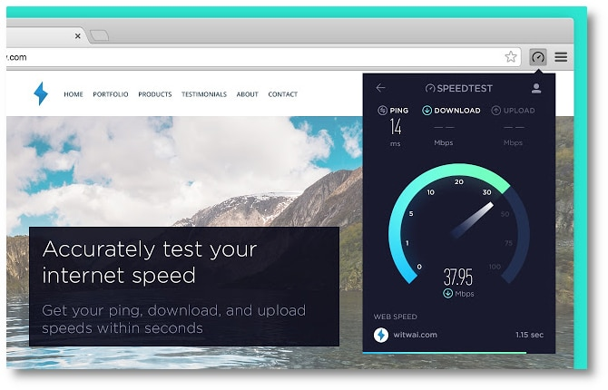 Use Speed Test by Ookla to know your bandwidth
