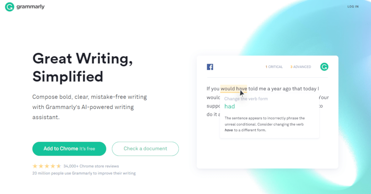 Write better texts with Grammarly